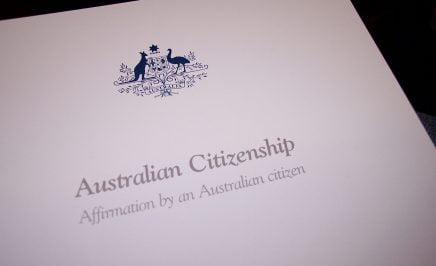 Australian citizenship documents