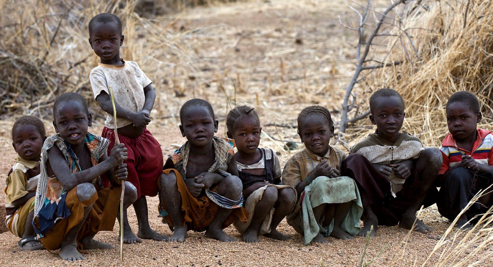 A group of IDP children in Dalami County, South Kordofan, Sudan.