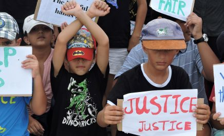 Refugee children protest their detention on Nauru