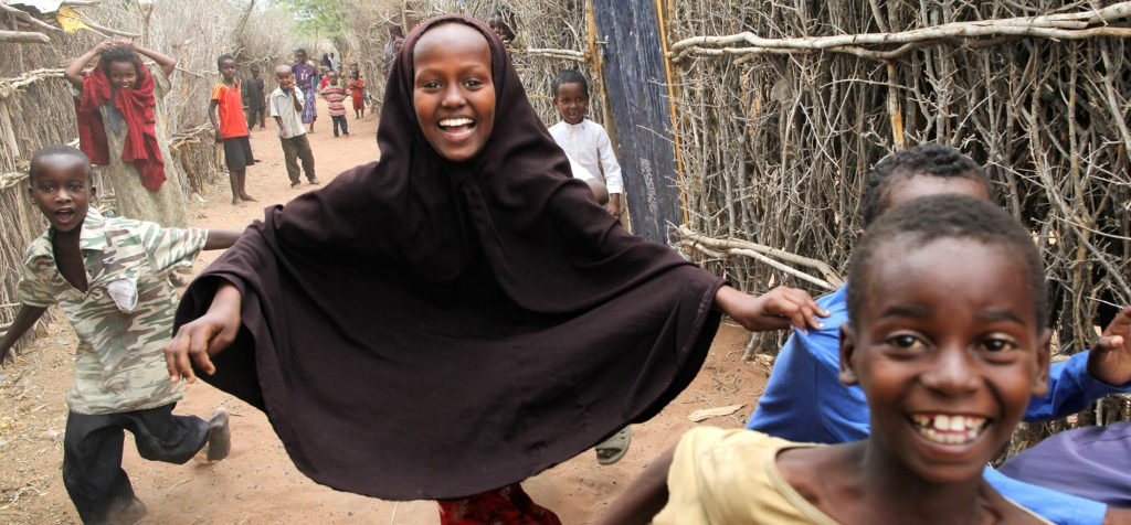 Dadaab camps in Kenya where 50,000 children are not attending school.