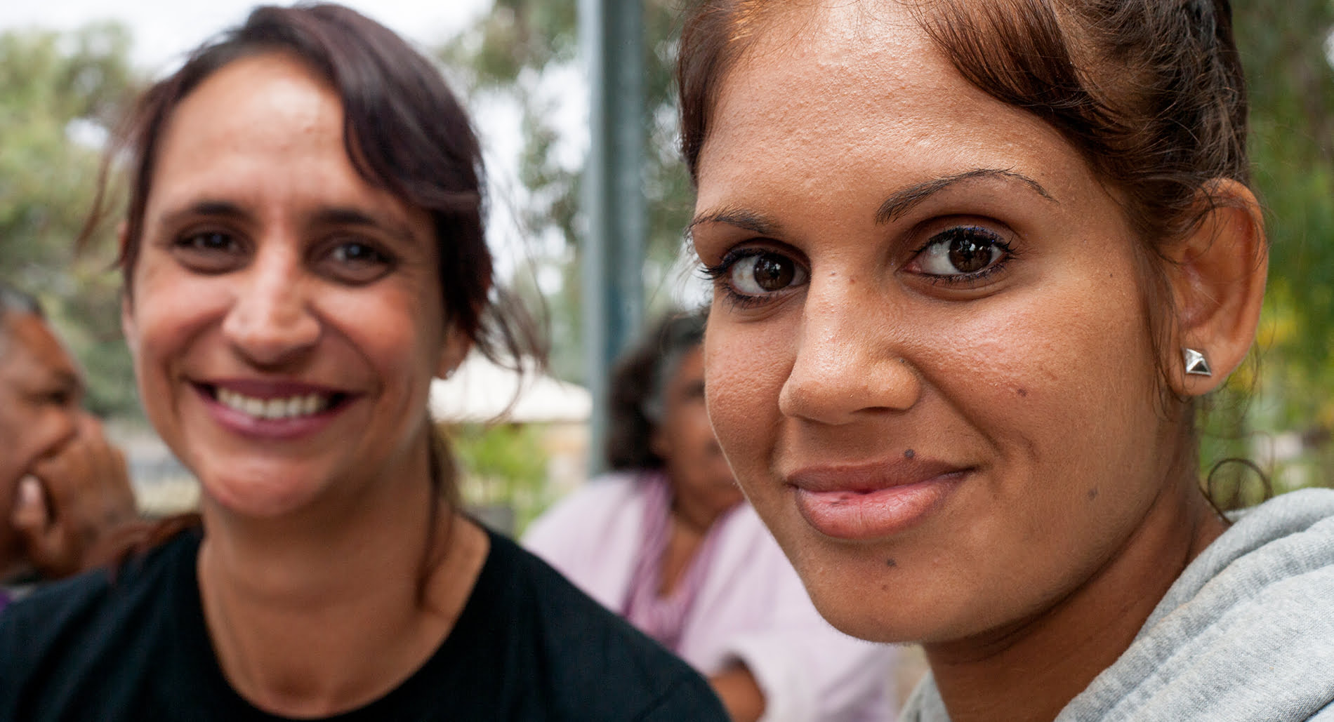 A young Indigenous woman in Bourke with Amnesty Indigenous Rights Campaigner, Tammy Solonec