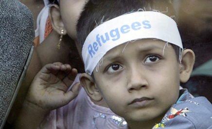 Ethnic Rohingya refugee children from Myanmar