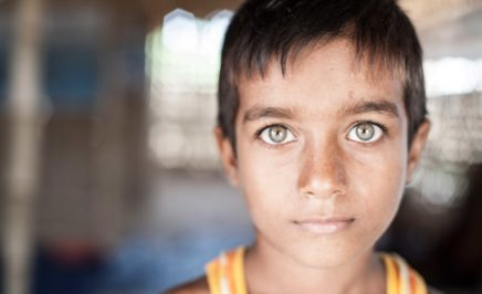 A young Rohingya refugee