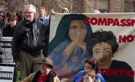 Hobart #BringThemHere refugee rally. © Zainab Clark