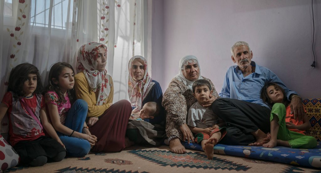 This Kurdish family are among tens of thousands are among an estimated half a million people forced out of their homes as a result of a brutal crackdown by Turkish authorities in south-eastern Turkey. © Guy Martin/Panos