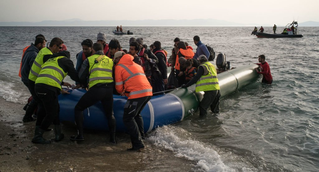 Refugees arriving by boat in Lesvos. © Amnesty International/Olga Stefatou