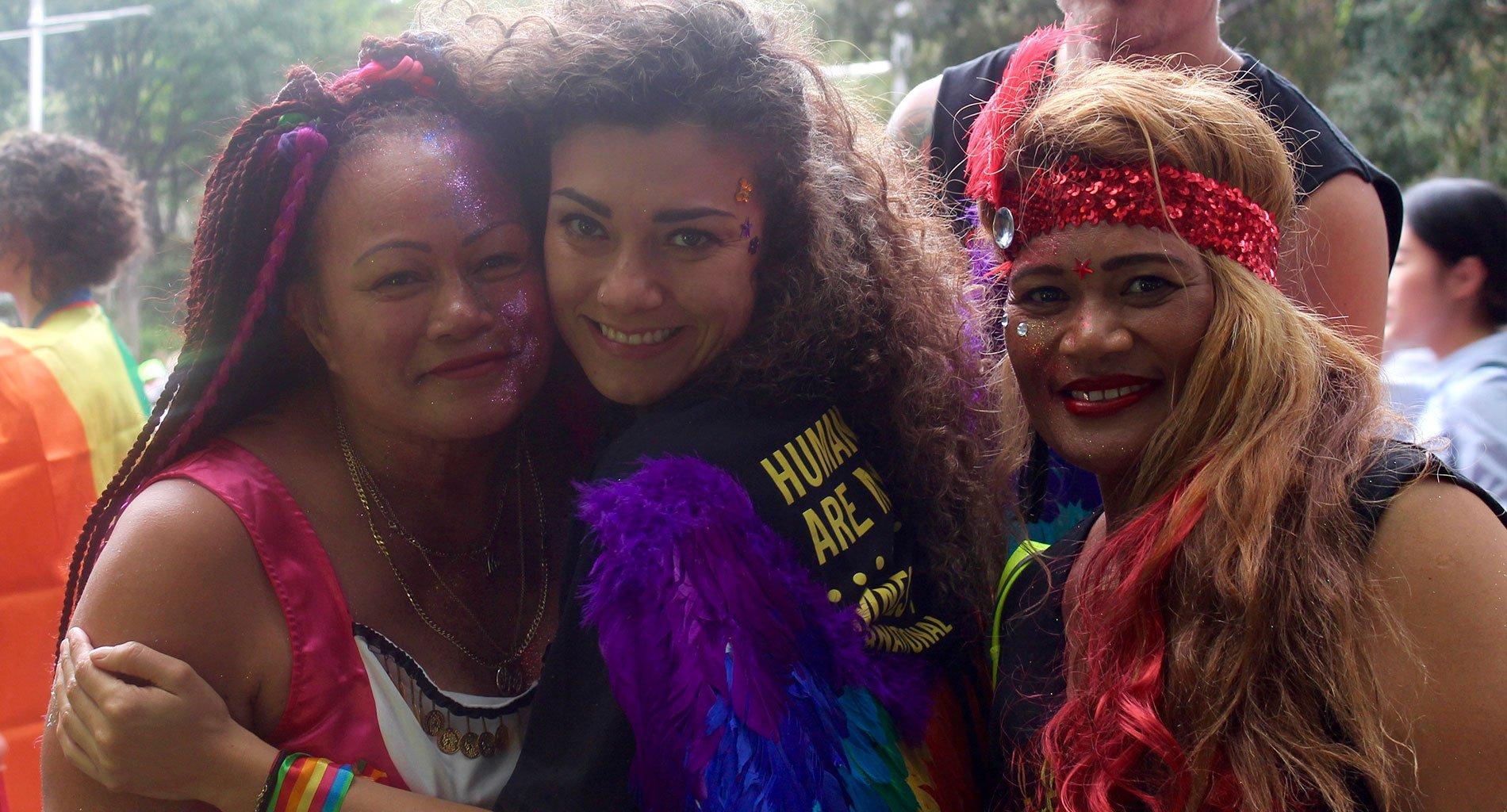 NSW LGBTQI Network at the 2017 Mardi Gras Parade. © Amanda Atlee