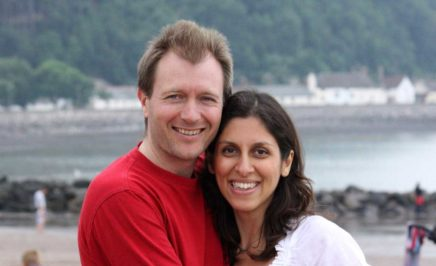 Nazanin Zaghari-Ratcliffe and her husband.