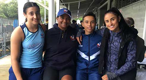Nova Peris and her children