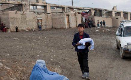 A young boy in a Kabul Informal Settlement