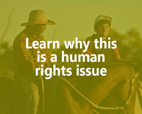 Learn why this is a human rights issue.