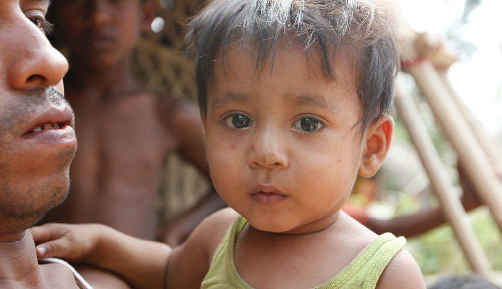 Rohingya refugee baby