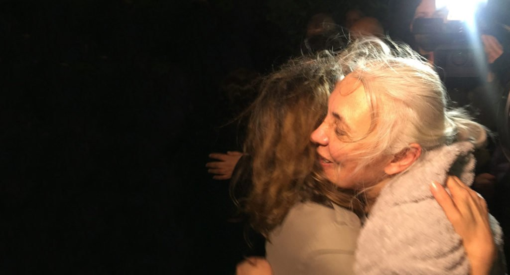 Idil Eser after her release.